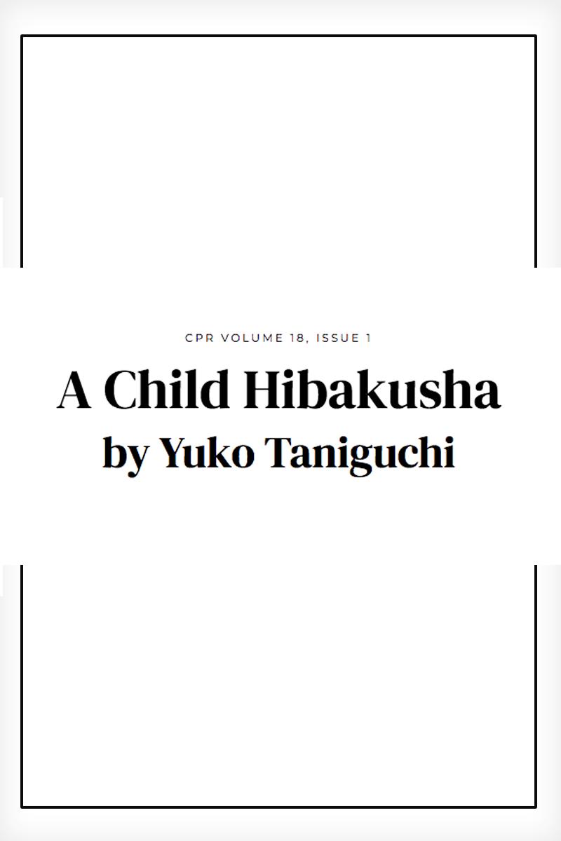 A Child Hibakusha, Yuko Taniguchi